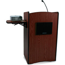 Multimedia Computer Lectern with 150 Watt Sound System - 27