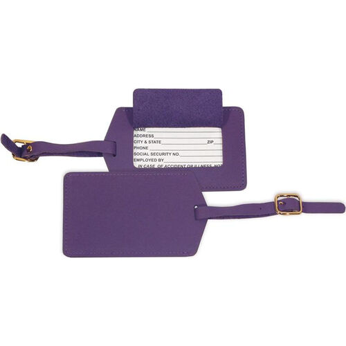 Our Luggage Tag - Top Grain Nappa Leather - Purple is on sale now.
