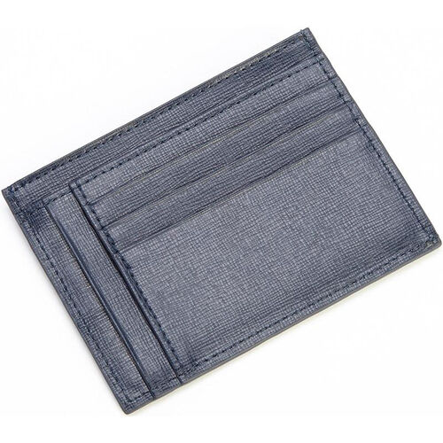 Our RFID Blocking Slim Card Case Wallet - Saffiano Genuine Leather - Blue is on sale now.