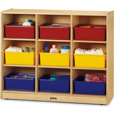 9 Tub Large Mobile Unit with Colored Trays