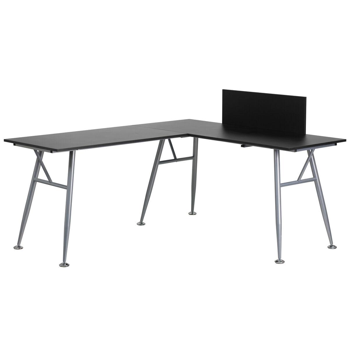 Black Desk NAN-WK-110-BK-GG | Bizchair.com