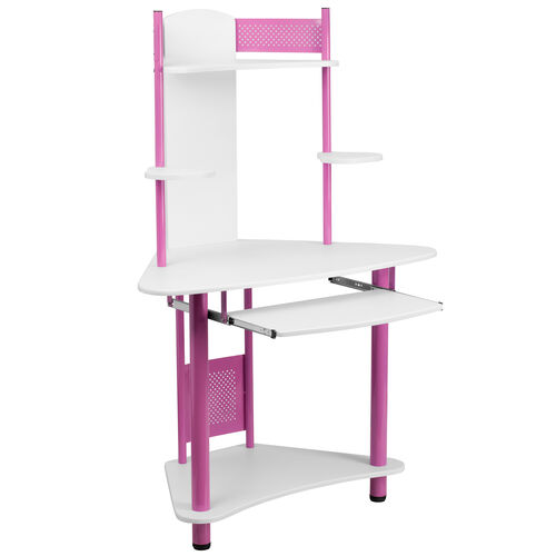 Our Pink Corner Computer Desk with Hutch is on sale now.