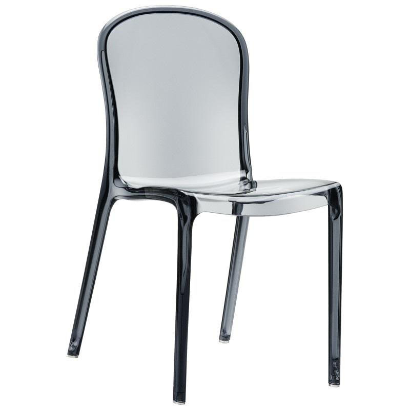 Compamia Victoria Modern Outdoor Polycarbonate Stackable See Through Dining  Chair   Transparent Gray ISP033 TGRY | Bizchair.com