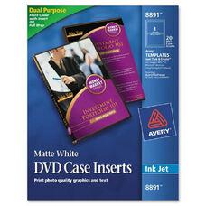 Avery Inkjet Printer Matte Dvd Case Inserts - Pack Of 20