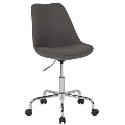 Our Aurora Series Mid-Back Dark Gray Fabric Task Office Chair with Pneumatic Lift and Chrome Base is on sale now.
