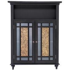 Windsor Double Door Floor Cabinet - Dark Espresso