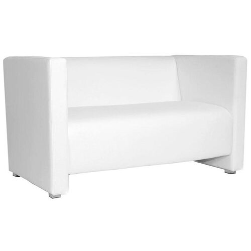 Our Zurich Indoor Faux Leather 2 Seat Sofa with Arms - White is on sale now.