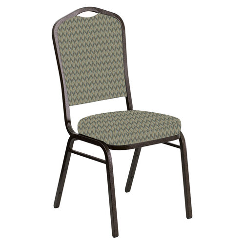 Our Embroidered Crown Back Banquet Chair in Rapture Tranquil Fabric - Gold Vein Frame is on sale now.