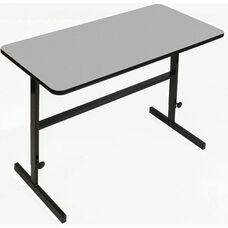 Height Adjustable Rectangular Laminate Top Standing Work Station - Gray Granite - 24