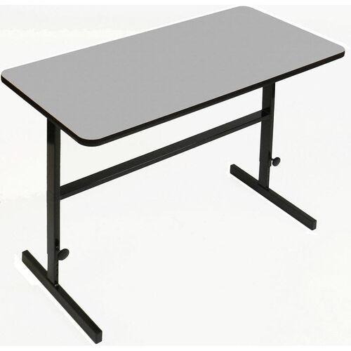 Our Height Adjustable Rectangular Laminate Top Standing Work Station - Gray Granite - 24