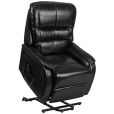 HERCULES Series Black LeatherSoft Remote Powered Lift Recliner