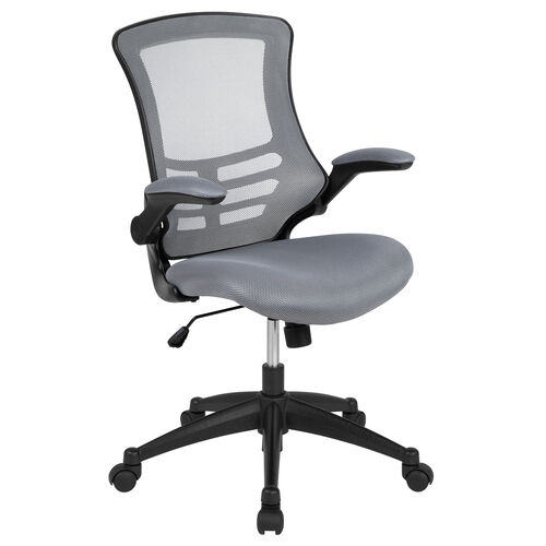 Our Mid-Back Dark Gray Mesh Swivel Ergonomic Task Office Chair with Flip-Up Arms is on sale now.