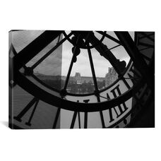 Clock Tower In Paris by Unknown Artist Gallery Wrapped Canvas Artwork