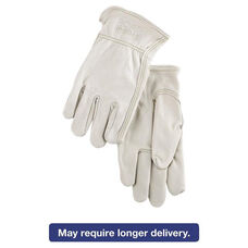 Memphis™ Full Leather Cow Grain Driver Gloves - Tan - Extra Large - 12 Pairs