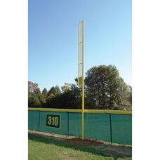 Yellow Powder Coat Finished Eight Gauge Galvanized Steel Foul Pole with Wing - 228