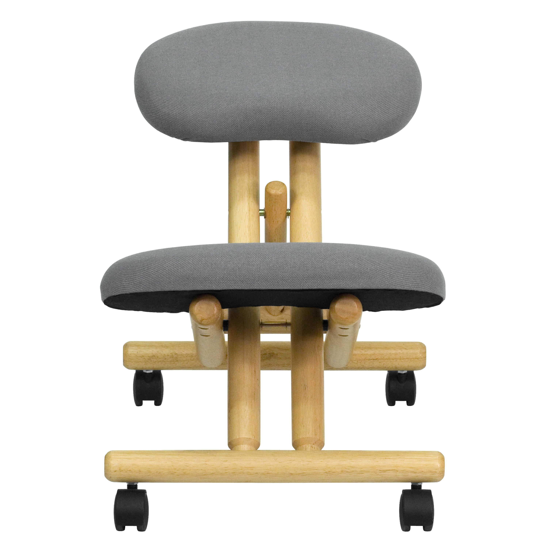 Gray Mobile Wood Kneeler Chair WLSB101GG Bizchaircom