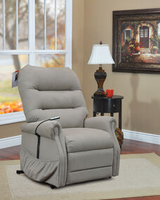 Wide Two Way Reclining Power Lift Chair with Seemed Back for Heavy Duty Use