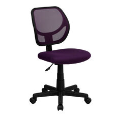 Mid-Back Purple Mesh Swivel Task Chair