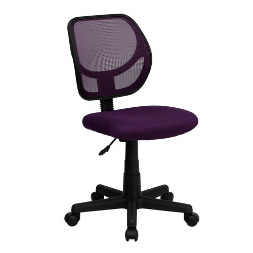 Our Low Back Purple Mesh Swivel Task Office Chair is on sale now.