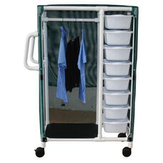 Combo Cart with 8 Stacking Bins and Mesh Cover with Casters- 20