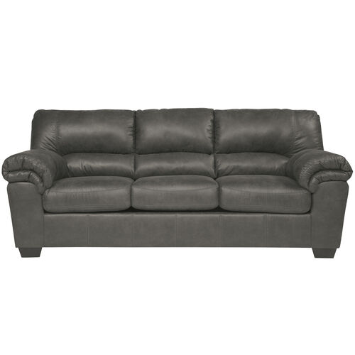 Our Signature Design by Ashley Bladen Sofa in Slate Faux Leather is on sale now.