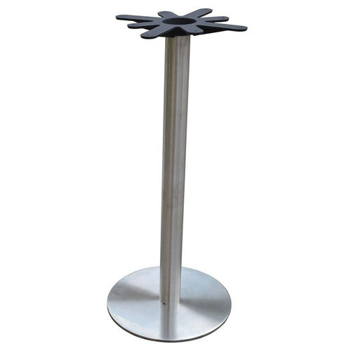Our Stainless Steel Round Bar Height Table Base with 18