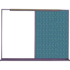 800 Series Aluminum Frame Combination Markerboard and Tackboard - Designer Fabric - 192