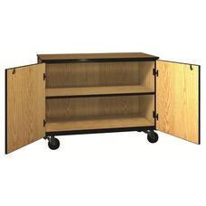 Denali 1000 Series Mobile Low Storage Cabinet w/ Doors & 1 Adjustable Shelf