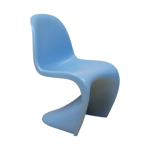 Our Trendy S Shape Stackable Matte Blue Chair is on sale now.