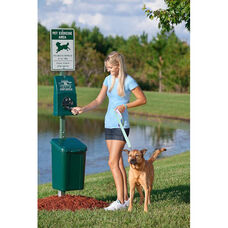 Green Polyethylene Dispenser Pet Station - Litter Pick Up Bags