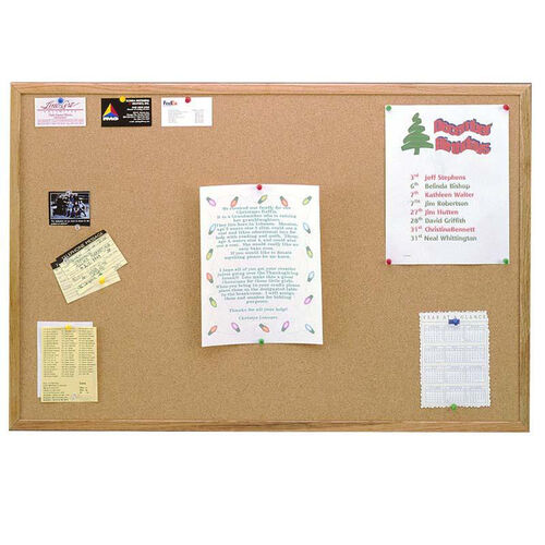 Our Wood Framed Natural Self-Healing Cork Bulletin Board - 2