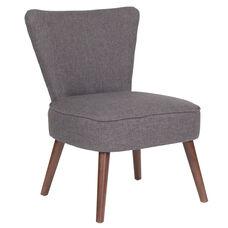 HERCULES Holloway Series Gray Fabric Retro Chair