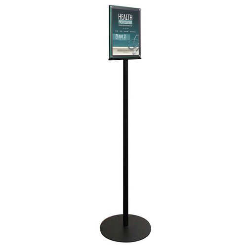 Double Sided Magnetic Sign Display Stand - Black