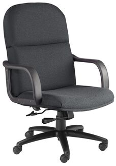 Comfort Big and Tall Executive Arm Chair - Gray Fabric