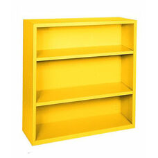 Elite Series 34.50'' W x 12.63'' D x 42'' H Three Shelf Welded Bookcase - Yellow