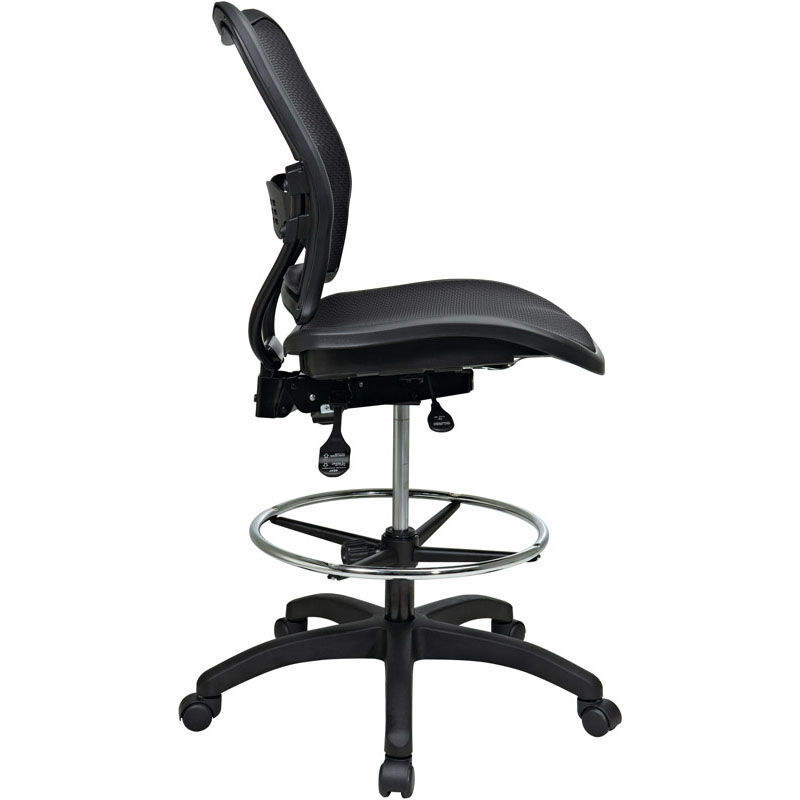 ... Our Space Deluxe Ergonomic AirGrid Seat And Back Drafting Chair With  Built In Lumbar Support ...