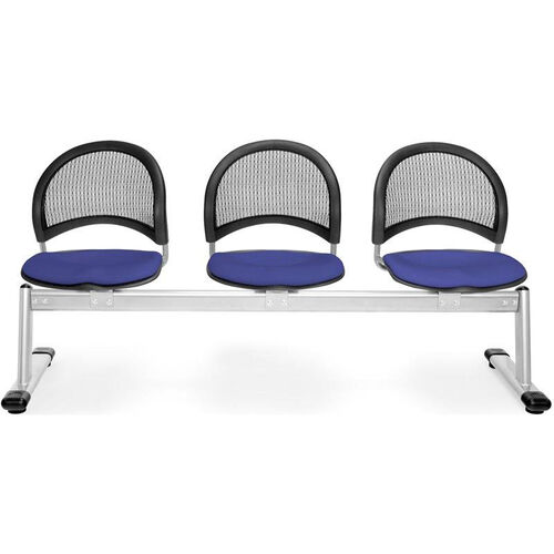 Our Moon 3-Beam Seating with 3 Fabric Seats - Royal Blue is on sale now.