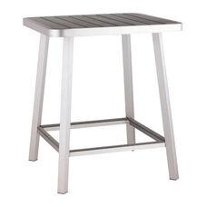 Megapolis Bar Table in Brushed Aluminum
