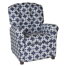 Kids Recliner with Button Tufted Back - Gotcha Navy