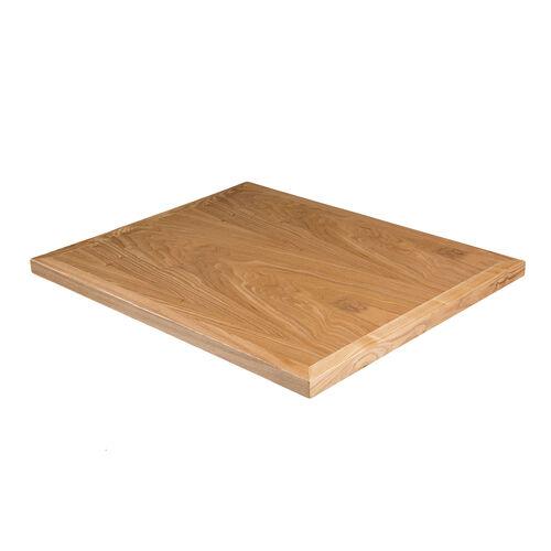 Wood Veneer Square Table Top with Solid Ash Wood Edge - Natural Ash