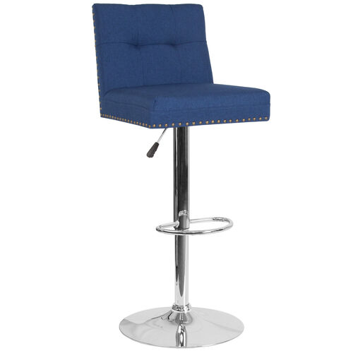 Our Ravello Contemporary Adjustable Height Barstool with Accent Nail Trim in Blue Fabric is on sale now.
