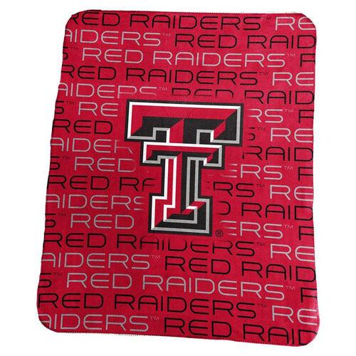 Texas Tech University Team Logo Classic Fleece Throw