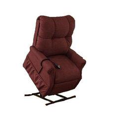 Economy Model Two Way Reclining Power Lift Chair with Magazine Pocket - Dawson Maroon Fabric