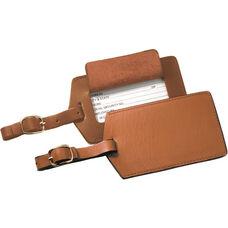 Luggage Tag - Genuine Leather - Tan