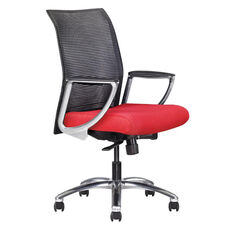 Zip Mesh Back Task Chair with Aluminum Base