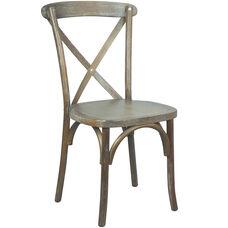 Advantage Medium With White Grain X-Back Chair