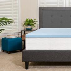 Capri Comfortable Sleep 2 inch Cool Gel Memory Foam Mattress Topper