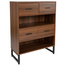 Lincoln Collection Bookshelf in Rustic Wood Grain Finish
