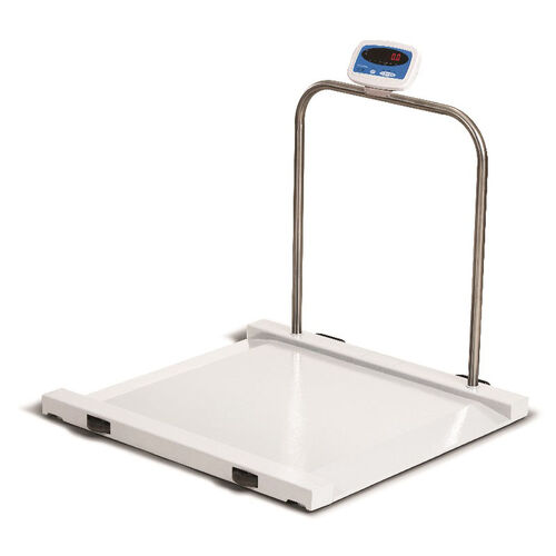Our Powder Coated White Bariatric Scale with Ramp Ends and Handrail - 1000 lb Capacity is on sale now.
