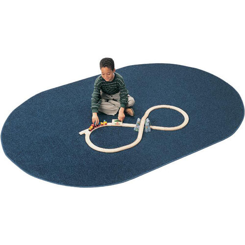 Mt. St. Helens Solid Color Oval Nylon Rug - 48